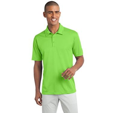 Camisa polo Port Authority Silk Touch Performance, Lime, 4XL