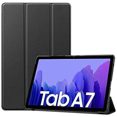 """Imagem de Samsung Galaxy Tab A7 10,4"""" (32 GB, 3 GB, WiFi + celular) Snapdragon 662, tablet 4G LTE desbloqueado GSM (global, T-Mobile, AT&T, Metro) modelo internacional SM-T505 (com capa dobrável inteligente, cinza)"""