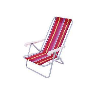 Cadeira Reclinável 4 Posições Aço Mor Ref 2004