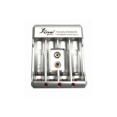 Carregador de Pilhas Recarregáveis Bivolt Aa Aaa Bat 9v Knup Kp-511