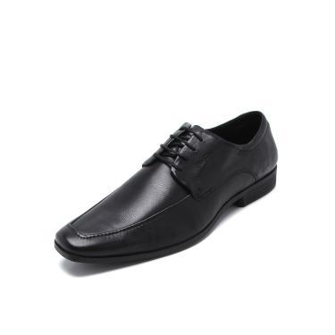 Sapato Social Couro Ferracini Cadarço Preto Ferracini 4302-281G masculino