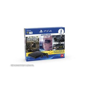 Playstation 4 Slim 1TB + 3 Jogos (Days Gone / Detroit / Raimbow Six) - PS4 Sony