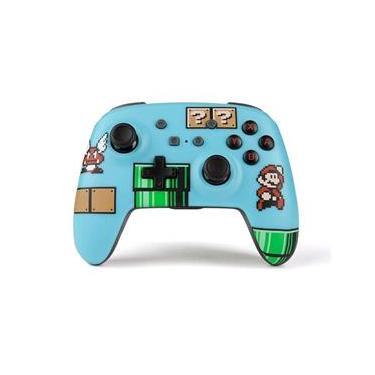 Controle PowerA Enhanced Wireless Mario Bros 3 - Switch