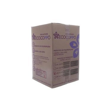 Copo de Plástico Descartável Branco de 200ml Caixa com 2500 Unidades Ecocoppo