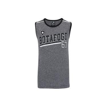 be56f50ff4 Camiseta Regata do Botafogo Feed - Infantil - CINZA PRETO Braziline