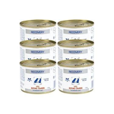 Kit 06un Alimento Úmido Recovery Royal Canin Cães Gatos 195g