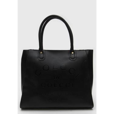 Bolsa Colcci Logo Preta Colcci 090.01.10055 feminino