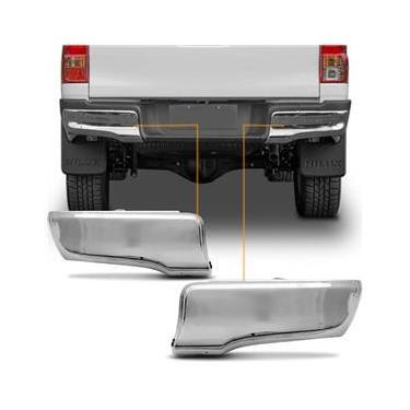 Ponteira Para-Choque Traseiro Toyota Hilux 2016 2017 2018 2019 Polaina Aço Cromado Lado Esquerdo Motorista