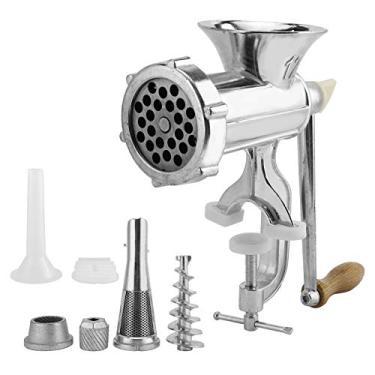 Moedor manual de carne | Máquina de moagem de liga de alumínio | Moedor manual de grampeamento de salsicha, acessório de cozinha para moer carne de porco/carneiro/frango/vários temperos