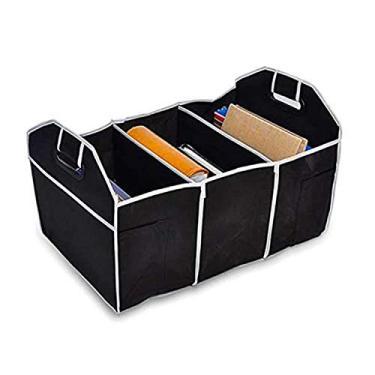 Imagem de JDYH Organizador dobrável para botas de carro, durável, antimanchas, compras, armazenamento para ferramentas, caixa de armazenamento adequada para carros e família, preta