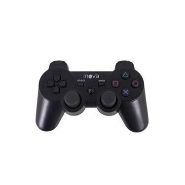 Controle sem fio PlayStation 3 Dualshock Preto Inova