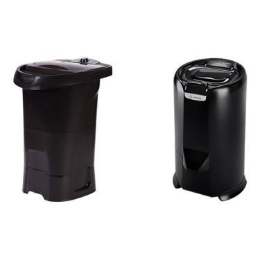 Imagem de Lavadora Lis 4kg+centrífuga Bella Eco 8.8kg Black Wanke 110v