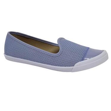 Sapatilha Feminina Moleca Renda Turquia Azul Jeans