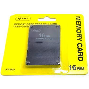 Memory Card 16Mb Playstation 2 Ps2 Knup Novo Kp-016