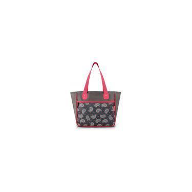 Bolsa Shopper Tam. G Estampada - Cinza/ameba - Nylon