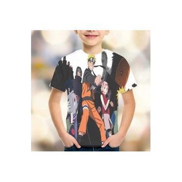 Camiseta Naruto Mod 02 Estampa Total Infantil Promoção