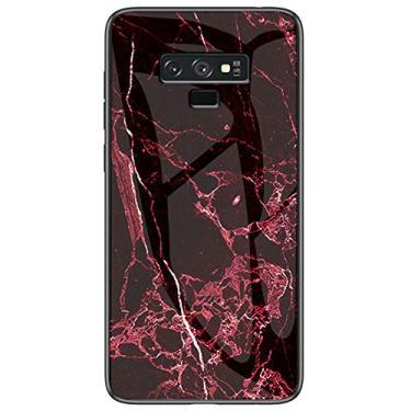 MOONCASE Capa para Galaxy Note 9, capa de vitral moderna de TPU (poliuretano termoplástico) ultra fina e macia à prova de choque, resistente a arranhões e impressões digitais para Samsung Galaxy Note 9 de 6,5 polegadas (vermelho)