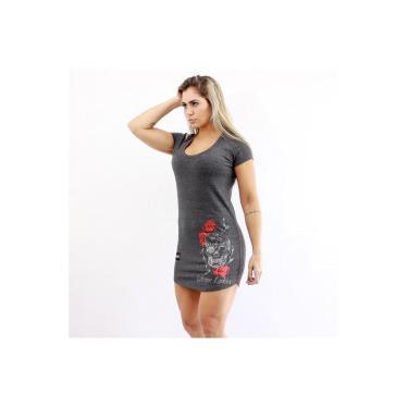 d583b19437 Vestido Extreme Ladies Skull - Feminino - CINZA ESCURO Extreme Ladies