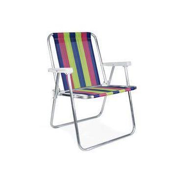 Cadeira Alta Aluminio Praia Piscina Pesca Mor
