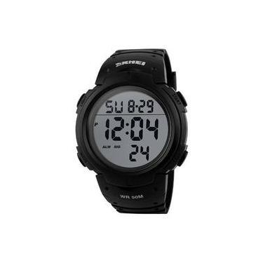93e151c118c Relógio Masculino Skmei Sshock Modelo 1068 Prova D água - Preto