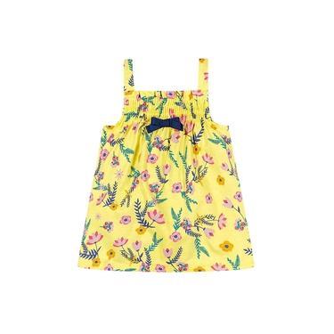 Vestido Brandili Baby Estampa Floral com Laço - P ao G