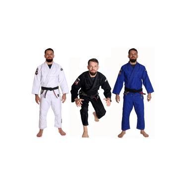 Kimono Jiu Jitsu Trançado Adulto 4X4 e Faixa