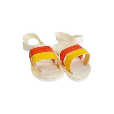Sandália De Luxo Para Bonecas (laranja E Amarelo)