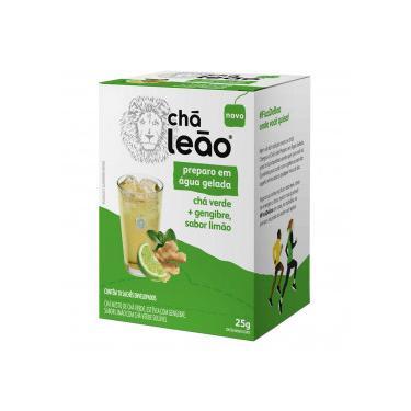 Imagem de Chá Leão Água Gelada Verde, Gengibre e Limão 10x25g