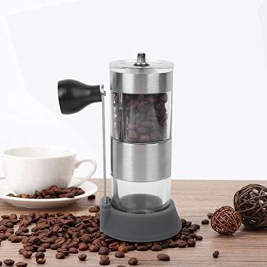 Imagem de Moedor manual de milho, moedor de café manual manual de arranque lavável, ajustável, máquina de moer, ferramenta de moagem de cozinha