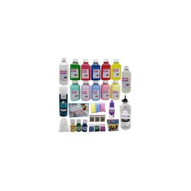 Imagem de Kit Slime Grande Com Colas Coloridas + Desativador - Ine Slime