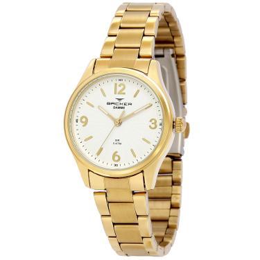 91e2abe5968 Relógio Feminino Backer Analógico 10264145F - Dourado