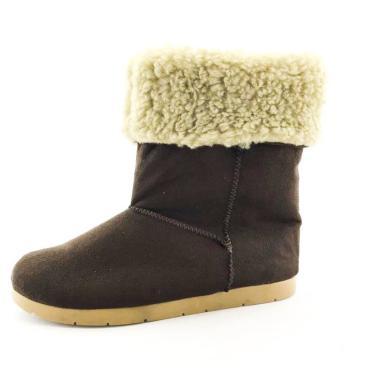 Bota Quality Shoes Forrada em Lã Camurça Marrom  feminino