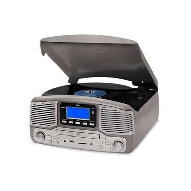 Vitrola Raveo Jazz Titanium Toca-Discos, CD Player, Bluetooth, USB. SD, Radio FM Bivolt