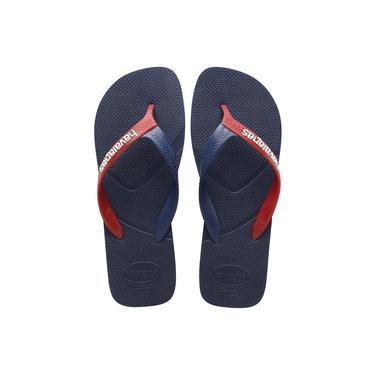 Sandália Havaianas Casual Azul Escuro e Vermelho 39/40