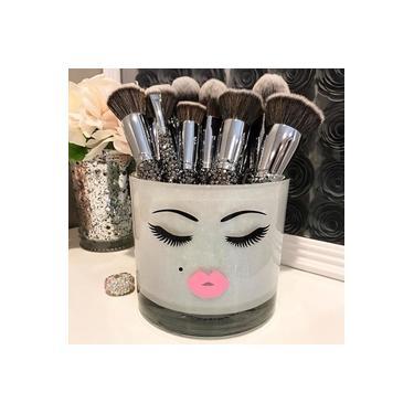 Porta Pinceis De Maquiagem Cilios Mink Boca Rosa