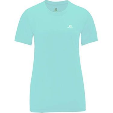 Camiseta Feminina Comet S10129 Verde Azulado - Salomon - PP