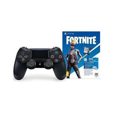 Controle Dualshock 4 Wireless Black + Voucher Fortnite Neo Versa - PS4