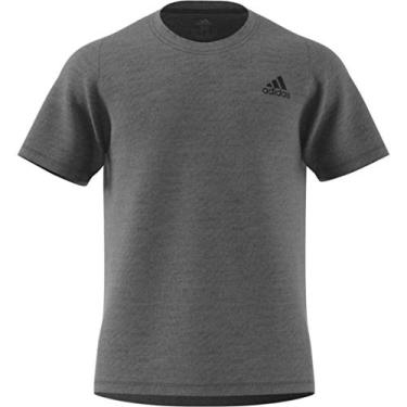 Camiseta masculina Adidas FreeLift Sport Prime de treinamento mesclado, cinza/preta, pequena