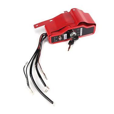 Interruptor de ignição por chave, interruptor de ignição elétrica e painel de 2 teclas para Honda GX340 GX390 11HP 13HP acessórios de cortador de grama do motor interruptor de ignição elétrica para Honda