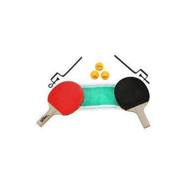f75c13acc Kit Tenis De Mesa 2 Raquetes 3 Bolas E Rede Bel Sports