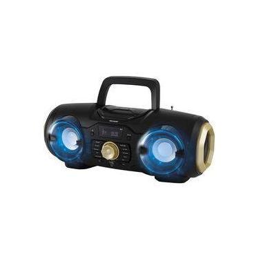 Rádio Portátil Philco Boombox PBO400BT com Bluetooth Entradas USB e 9 Flashs de Luz - Preto