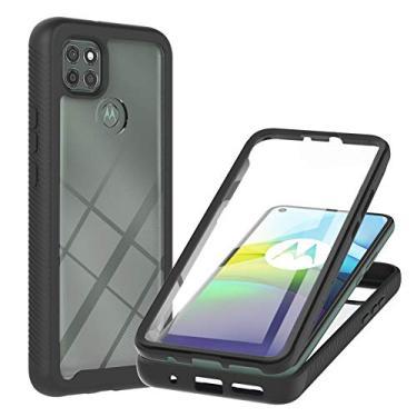 XYX Compatível com Motorola G9 Power Case, [protetor de tela integrado] Capa protetora híbrida 2 em 1 à prova de choque para Moto G9 Power, borboleta rosa