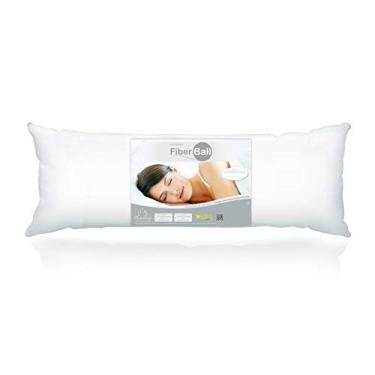 Imagem de Travesseiro de Corpo Poliéster Fiber Ball (Body Pillow), Plooma, Branco