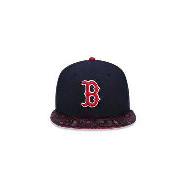 Bone 5950 Boston Red Sox Mlb Aba Reta Marinho New Era c946d91dbac
