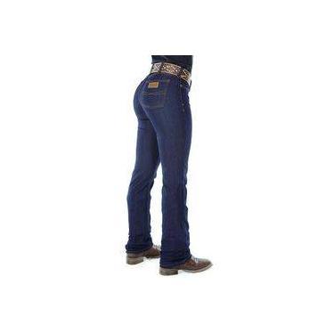 Calça Jeans Feminina Cowboy ST Lycra Azul-42 c393b3d5a5508