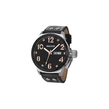 bab66e4d3b2 Relógio Magnum Masculino Ma32783t Prova D`água 100 Metros