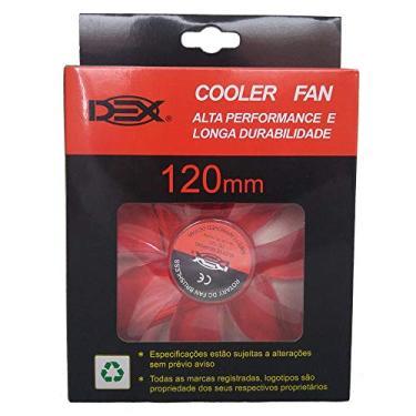 Cooler Fan Dex C/4Led 12cm 120mm Cores Dx-12L