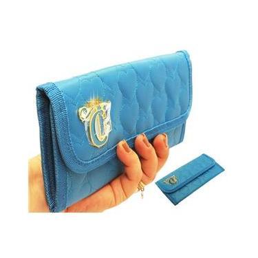 Carteira Doleira Feminina Love Azul Capricho Jovem Mão