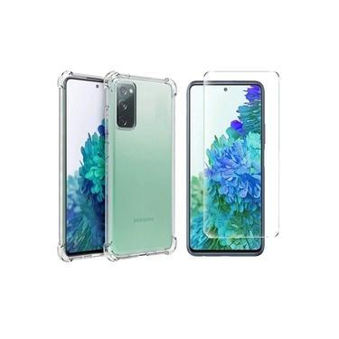 Kit Com Capa Anti Impacto + Película de Vidro Samsung Galaxy S20 Fe R&M Acessórios