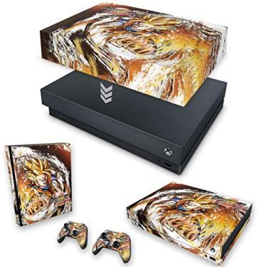 Capa Anti Poeira e Skin para Xbox One X - Dragon Ball Fighterz